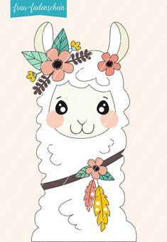 Alpacas, Cute Kawaii Drawings, Cool Art Drawings, Animal Drawings, Adele, Double Knitting, Baby Knitting, Llama Face, Cat Coloring Page