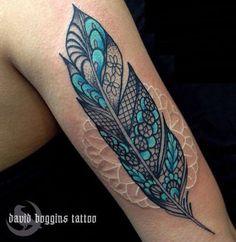 David Boggins Lace Feather Tattoo #ink #tattoo