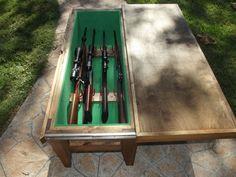 Coffee table with hidden gun storage Collection Pinterest