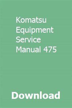 komatsu parts manual free download user guide manual that easy to