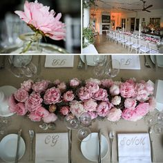 love low arrangements.  especially ones with peonies, peonies and more peonies