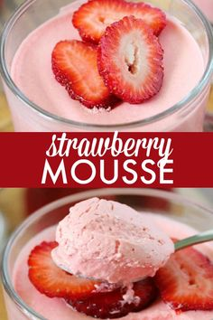 Mousse - Sweet, light and addicting! Satisfy your sweet tooth with this dessert recipe.Strawberry Mousse - Sweet, light and addicting! Satisfy your sweet tooth with this dessert recipe. Jello Desserts, Jello Recipes, Frozen Desserts, Easy Desserts, Delicious Desserts, Dessert Recipes, Yummy Food, Cool Whip Desserts, Strawberry Mousse Cake
