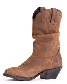For a day out in the country or a night on the town, these slouch boots pair perfectly for any occasion! |   http://www.countryoutfitter.com/products/28342-womens-11-western-slouch-boots-distressed-tan  #cowgirlboots