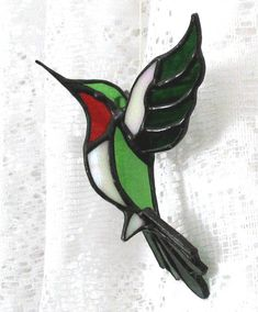 Stained glass bird: Hummingbird