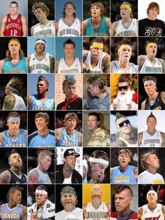"The Evolution Of Chris ""Birdman"" Andersen. Miami Heat Basketball, Basketball Legends, Love And Basketball, Basketball Players, Basketball Stuff, Denver, Chris Andersen, Nba Scores, Nba Champions"