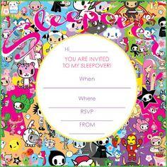 140 best free sleepover invitations images sleepover invitations