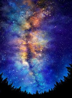 A colorful Dream of the Nighttime Stars ...