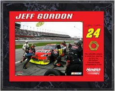 Jeff Gordon unsigned 8x10 Plaque with Race Used Lugnut- Limited to 524 - Framed NASCAR Photos, Plaques and Collages by Sports Memorabilia. $65.46. Makes a Great Gift!. Jeff Gordon is a four-time NASCAR Winston Cup (now Sprint Cup) Series champion, three-time Daytona 500 winner, and driver of the #24 DuPont/Pepsi/United States National Guard Chevrolet Impala. He became the first driver to reach $100 Million in winnings for the Cup series in 2009. This is an unsigned 8x1... Daytona 500 Winners, Photo P, Jeff Gordon, National Guard, Chevrolet Impala, Finish Line, Nascar, Sprint Cup, Race Cars