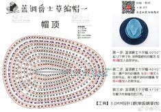 멋진 페도라 모자 손뜨개 도안 : 네이버 블로그