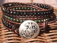 I Love my Marine Triple Wrap Bracelet by JennyPennyCreations, $50.00