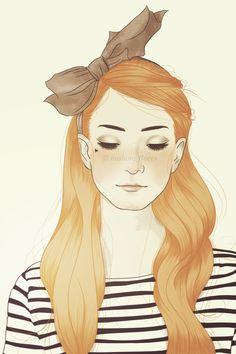 Wallpaper February | She by Malena Flores, via Behance