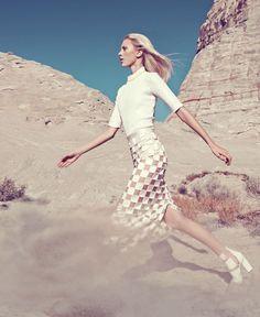 White Clothing Trend - White Clothing Spring 2013 Fashion Editorial - Harper's BAZAAR #HarpersBAZAAR #SpringStyle