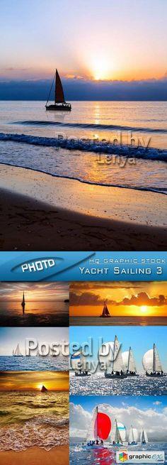 Stock Photo  Yacht Sailing 3  stock images