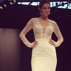 GAH! Two words: In. Love! This Israeli designer knows how to do sexy right! @BERTA #bridalmarket #pier94 #hubbahubba #hott