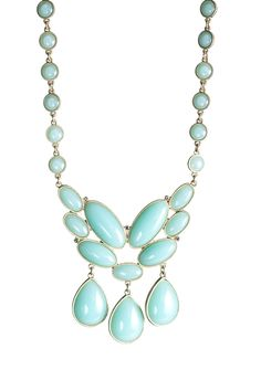 Chalcedony Glass Cluster Necklace