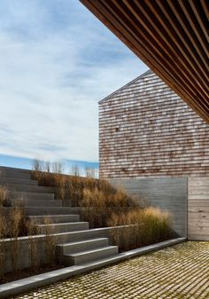 Genius Loci by Bates Masi Architecture is part of Landscape stairs - Surrounded by green pastures in the small seaside community of Montauk, New York lies two Landscape Stairs, Urban Landscape, Landscape Design, Garden Design, House Design, Landscape Structure, Architecture Details, Landscape Architecture, Interior Architecture