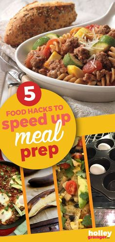 These 5 clever food hacks are sure to speed up the time you spend prepping, cooking and cleaning up your meals. You don't have time to miss these ideas! One Pot Meals, Easy Meals, Meal Prep For Beginners, Healthy Diet Recipes, Healthy Food, Food Hacks, Cooking Hacks, Meal Prep For The Week, How To Cook Eggs