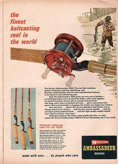1968 Abu Garcia 5000 fishing reel ad.