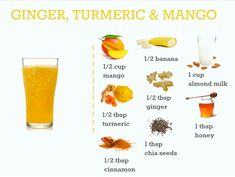 Turmeric and Ginger Tropical Smoothie - Zuckerfreier Kuchen Weight Loss Drinks, Weight Loss Meal Plan, Weight Loss Smoothies, Healthy Weight Loss, Homemade Smoothies, Healthy Smoothies, Smoothie Recipes, Shake Recipes, Smoothie Drinks
