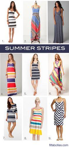 9 striped summer dresses