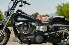 Newborn photography Harley Davidson
