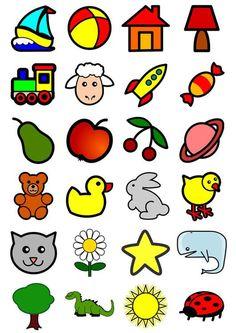 Afbeelding icoontjes voor kleuters - prent icoontjes voor kleuters. Afbeelding voor gebruik op school en in het onderwijs - afb 20550