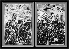 The Voyage #1 and #2 Black and White Abstract Expressionism Paintings - The Voyage – Poem by Charles Baudelaire. #blackandwhitepaintingsabstract #blackandwhitepaintingsart #blackandwhitepaintingsacrylic #blackandwhitepaintingspaper