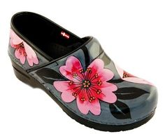 Hand painted Sanita women's clogs by amazing Swanx Artists... Check it out...