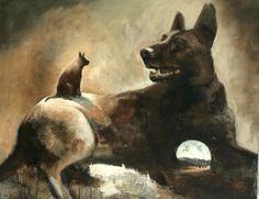 Samuli Heimonen is a Finnish painter. He was born at 1975 in Saarijävi, Finland. He graduated as Master of A. Moomin, Weird Art, Art Studies, Landscape Paintings, Oil Paintings, Mans Best Friend, Surrealism, Oil On Canvas, Fine Art