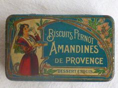 rare ancienne boite tole publicitaire, biscuits pernot, pyrogène in Collections, Objets publicitaires, Boîtes | eBay