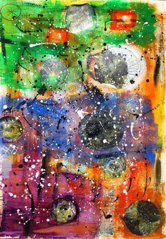 "Original #abstract #art ""'milkyway"" bu Saatchiart artist #marinadewit"