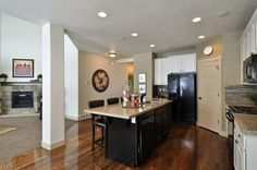 Love the lower ceiling in the kitchen and dinning it makes it so much more intimate.
