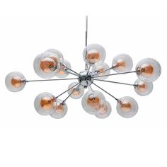 Modern Amber Bubble Chandelier. Looks like salmon roe...