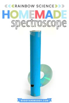 Explore the science of light, refraction and reflection with this homemade spectroscope using an old CD and paper towel roll. This science experiment is fun for kids of all ages. Preschool Science Activities, Creative Activities For Kids, Steam Activities, Preschool Learning Activities, Science For Kids, Toddler Activities, Science Fun, Creative Kids, Science Fair Projects