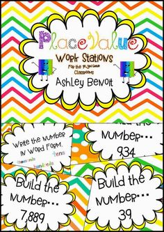 Throwback Math Stations-Place Value
