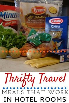 hotel hacks Thrifty Travel Meals that Work for Hotel Rooms Vacation Meal Planning, Vacation Ideas, Vacation Pics, Vacation Food, Vacation Packing, Beach Vacation Meals, Weekend Vacations, Living In A Hotel, Road Trip Food