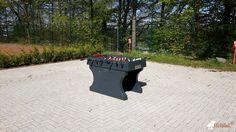 Tafelvoetbaltafel van beton Antraciet bij Förderverein der Roseggerschule in Waldbröl
