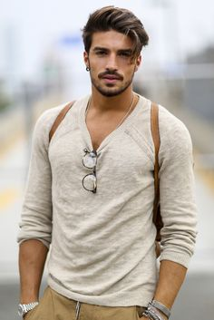 He is so beautiful I want to cry Long streets - MDV Style | Street Style Fashion Blogger Marino Di Vaio................OMG what a dream <3 <3 <3 <3