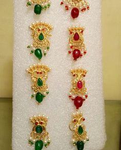 Nose pin popularly known as besar in Rajasthan. Indian Wedding Gowns, Napkin Rings, Piercings, Brooch, Jewels, Earrings, Jewellery, Peircings, Ear Rings