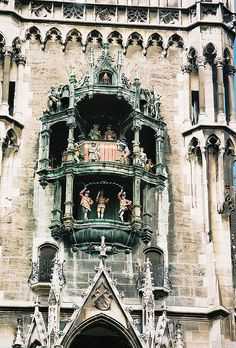 Rathaus Glockenspiel - Munich, Germany- one of the highlights of working in Munich was living so close to the glockenspiel. Got to walk by it daily! Lovely