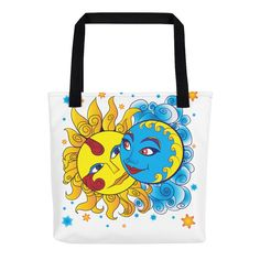 Solar Eclipse Tote Bag - Diego & Frida - Path of Totality August 21, 2017