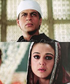 Sharukh Khan and Preity Zinta in Veer Zaara.. I looove this movie. But get ready to cry.