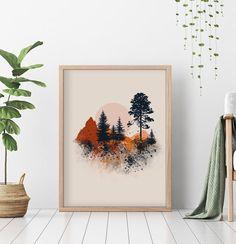 Desert Art, Forest Art, Cactus Print, Landscape Prints, Nature Prints, Home Wall Decor, Abstract Wall Art, Printable Wall Art, Wall Art Prints