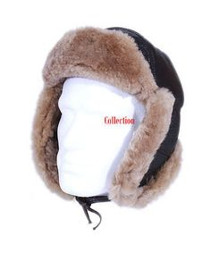 Mens raf brown / ginger aviator #shearling sheepskin ww2 #flying #winter warm hat,  View more on the LINK: http://www.zeppy.io/product/gb/2/282271610102/