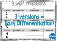 I have a quick and easy improper fractions freebie for you today!  My third graders have to know multiple ways to represent fractions. I created a game and corresponding activity sheets to go along with it. I'm hosting this freebie on my blog - 3 pages of printable fraction practice. It is PERFECT for your third graders and I hope it's something you can use!  Click on either of the pictures or on THIS LINK to go straight to the freebie post! Or you can pin the picture above to save it for…