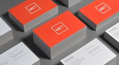 MET – Experience Design / Branding / Identity / Design / Logo / Experiential / Square / Bright / Colour Palette / Orange / London / Hong Kong / Mexico City / Business cards / Stack