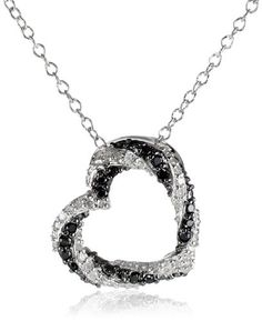 Sterling Silver and Black and White Diamond Heart Pendant Necklace (1/4 cttw, I-J Color, I1-I2 Clarity) Amazon Curated Collection,http://www.amazon.com/dp/B00HN31ZWO/ref=cm_sw_r_pi_dp_vMx7sb01N9EKQS3N
