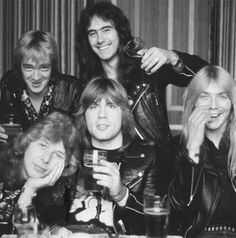 Photo taken when Bruce Dickinson joined Iron Maiden in late 1981