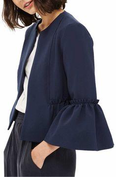 Workwear: Topshop Raw Ruffle Crop Jacket - Photo credit: nordstrom.com