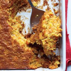 This recipe for carrot spoon bread from reader Claire Russo in Rye, New Hampshire, can work as a holiday side dish or a dessert.